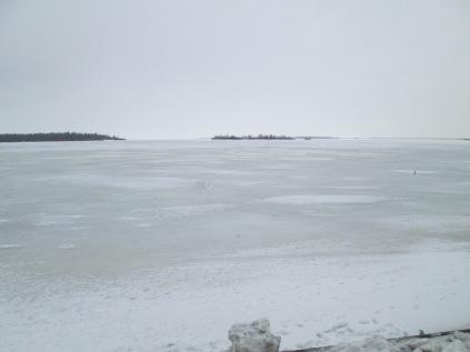 The frozen lake near the Snow Castle